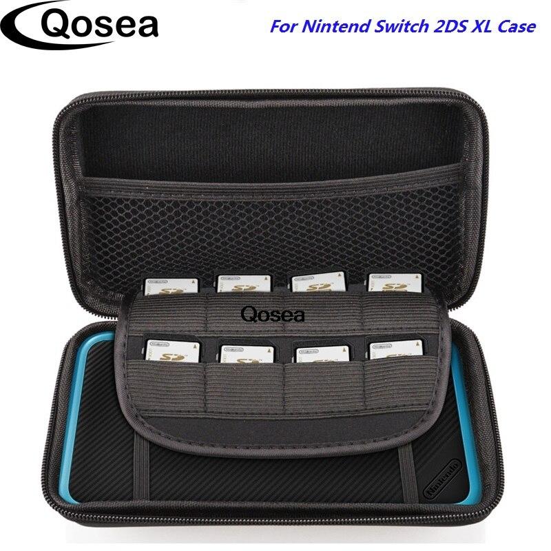 Qosea Pour Nintend Commutateur 2DS XL Nintendo DS LL Cas Deluxe Meilleur Jeu Voyage de Transport de Protection Haut De Gamme Portable Dur Carry cas