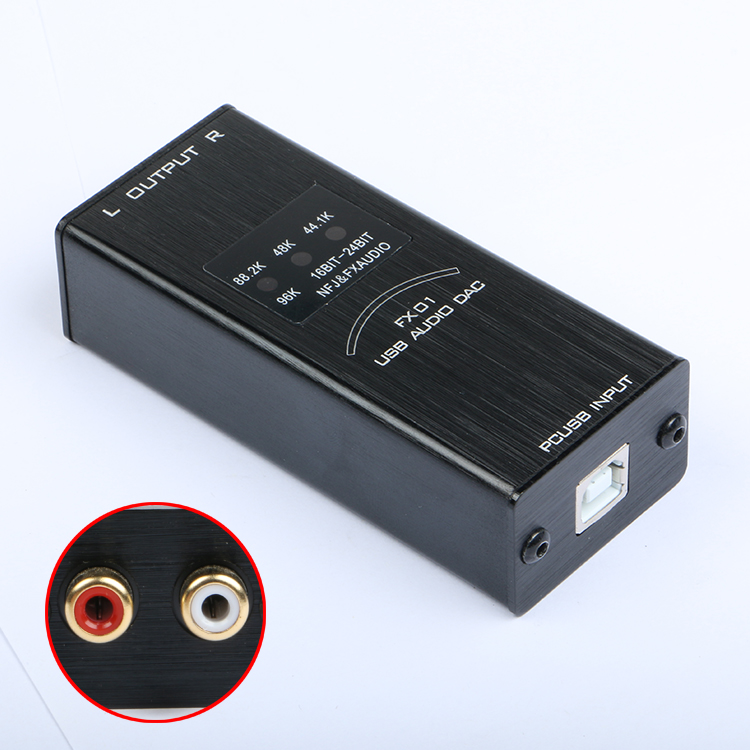 2017 New FX-Audio FX-01 USB DAC sound card audio decoder  sampling rate display SA9023  PCM5102 24BIT 96K