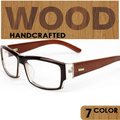 Старинные шерсть очки близорукость очки очки кадров Женщин не связанные с основной деревянные равнине зеркало прозрачный кадров