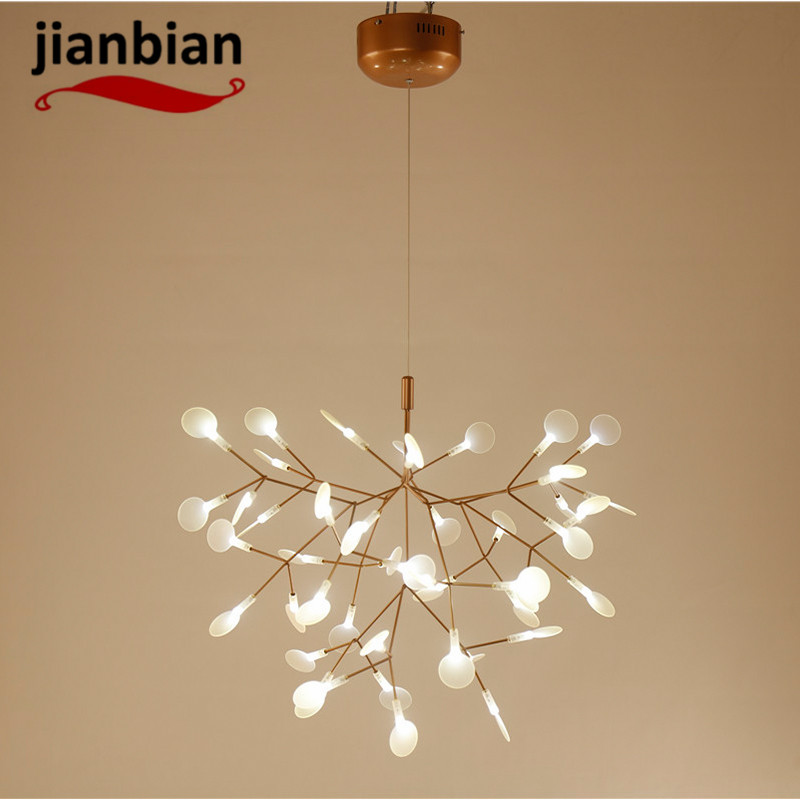 art chandelier post-modern minimalist living room restaurant cafe creative art branch firefly light цена и фото