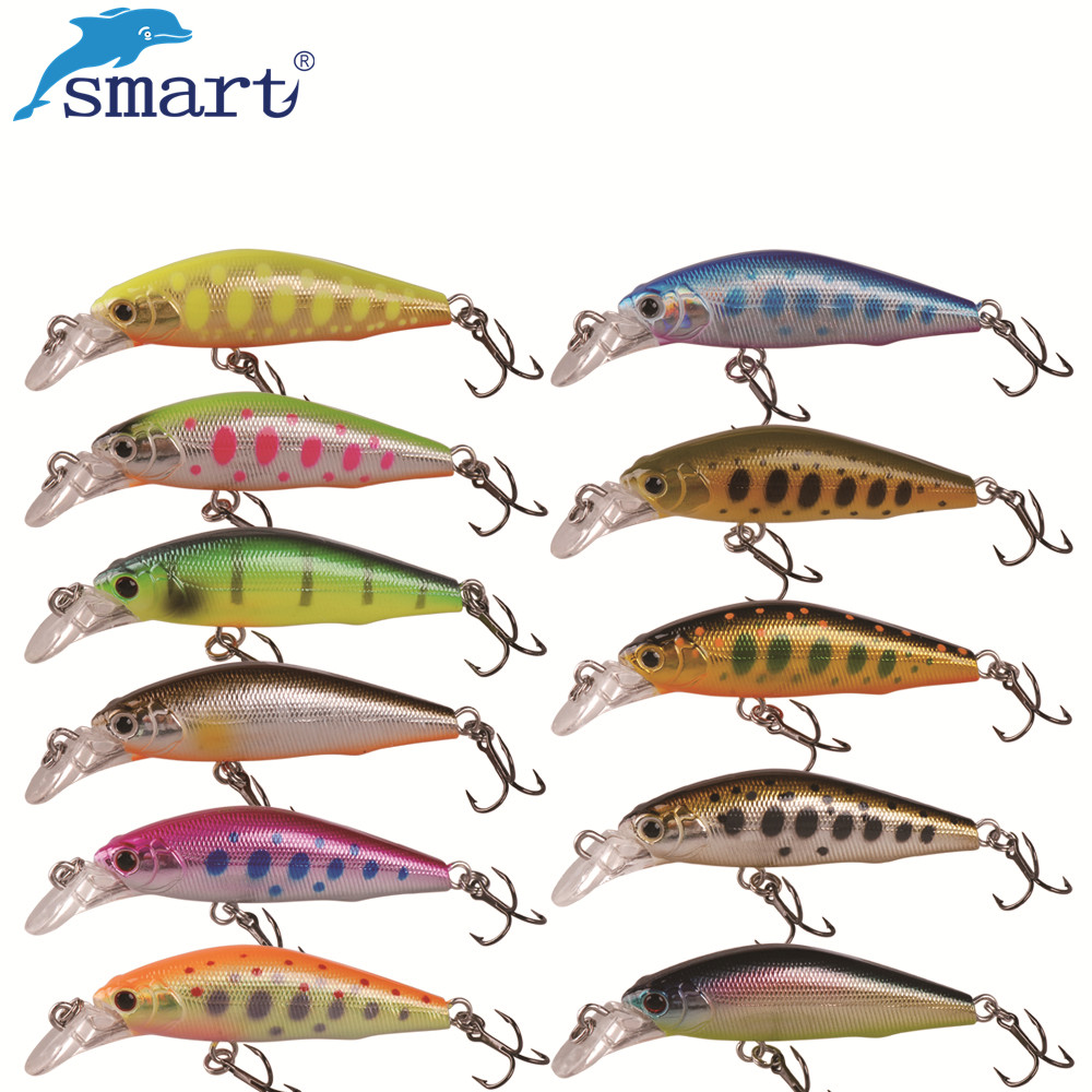 Smart Minnow Bait 42mm/3.66g Sinking 3D Eyes Fishing Lures