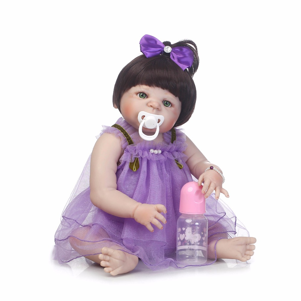 55cm Full Silicone Reborn Baby Doll Toys Like Real 22inch Newborn Princess Toddler Babies Girls Dolls Bathe Toy Fashion Birthday 55cm full silicone reborn baby doll toy real touch newborn princess toddler babies alive bebe doll with pacifier girl bonecas