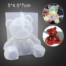 christmas Decor molds 3D Bear Resin Chocolate Mould Epoxy Resin Mold Manual DIY Craft Tool Baking Gadget silicone fondant molds(China)