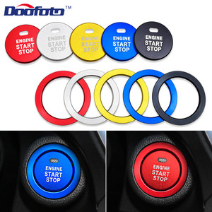 Doofoto Car Engine Start Stop Button Rings Styling Stickers Auto Accessories For Subaru BRZ Impreza XV Forester Outback Legacy