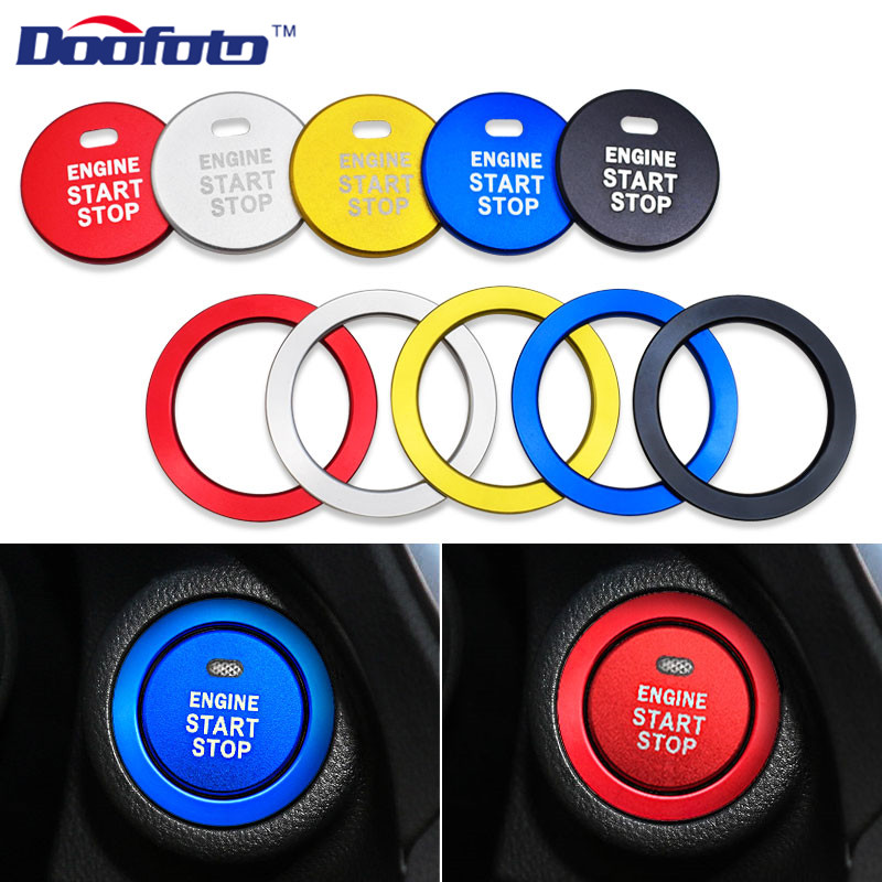 Doofoto Car Engine Start Stop Button Rings Styling Stickers Auto Accessories For <font><b>Subaru</b></font> BRZ Impreza XV Forester Outback Legacy image