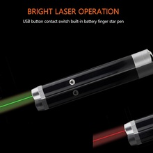 High Power Green/Red 2 Colors USB Rechargeable Laser Pointer Pen Visible Beam Teaching Presenter Light Hunting Laser smartpointer usb rf presenter with red laser pointer