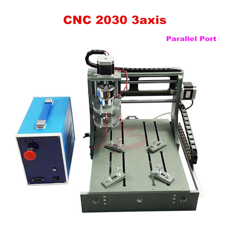 Hot sell DIY  LY CNC 2030 3 axis Mini wood milling router DC spindle 300W with Parallel port mini cnc router machine 2030 cnc milling machine with 4axis for pcb wood parallel port
