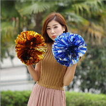 Metal red mix  cheerleading pom poms Cheerleader pompon The Handle can choose The Color can free combinat