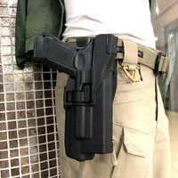LV3 Series Quick Drop Glock pistolet ceinture étui portant lampe de poche militaire pistolet étui pour Glock 17 18 19 22 23 32 taille étui