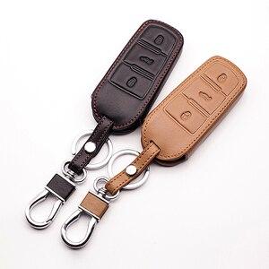 Кожаный чехол для автомобильного ключа 3 кнопки для Volkswagen VW Passat CC B6 B7 B7L CC R36 Maogotan B5 Passat 3C Чехол для автомобильного бумажника