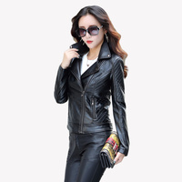 Leather Jacket Women S 2017 Autumn And Winter Leather Women S Leather Jacket Spring Casual Black