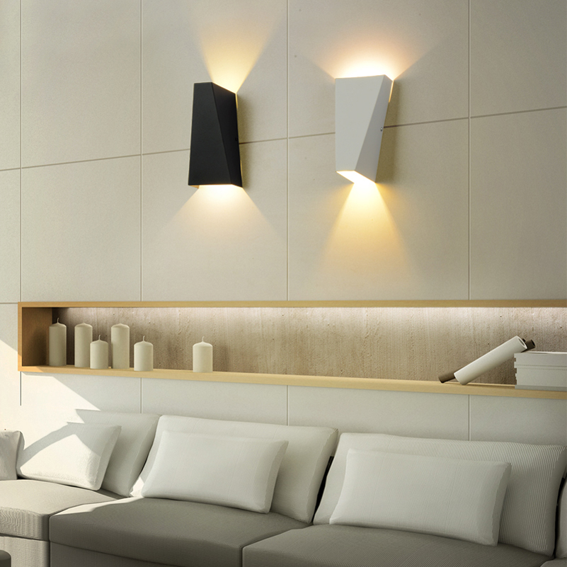 هندسه داخلی لامپ 10W Mordern Led Wall Light محافظ - روشنایی داخلی