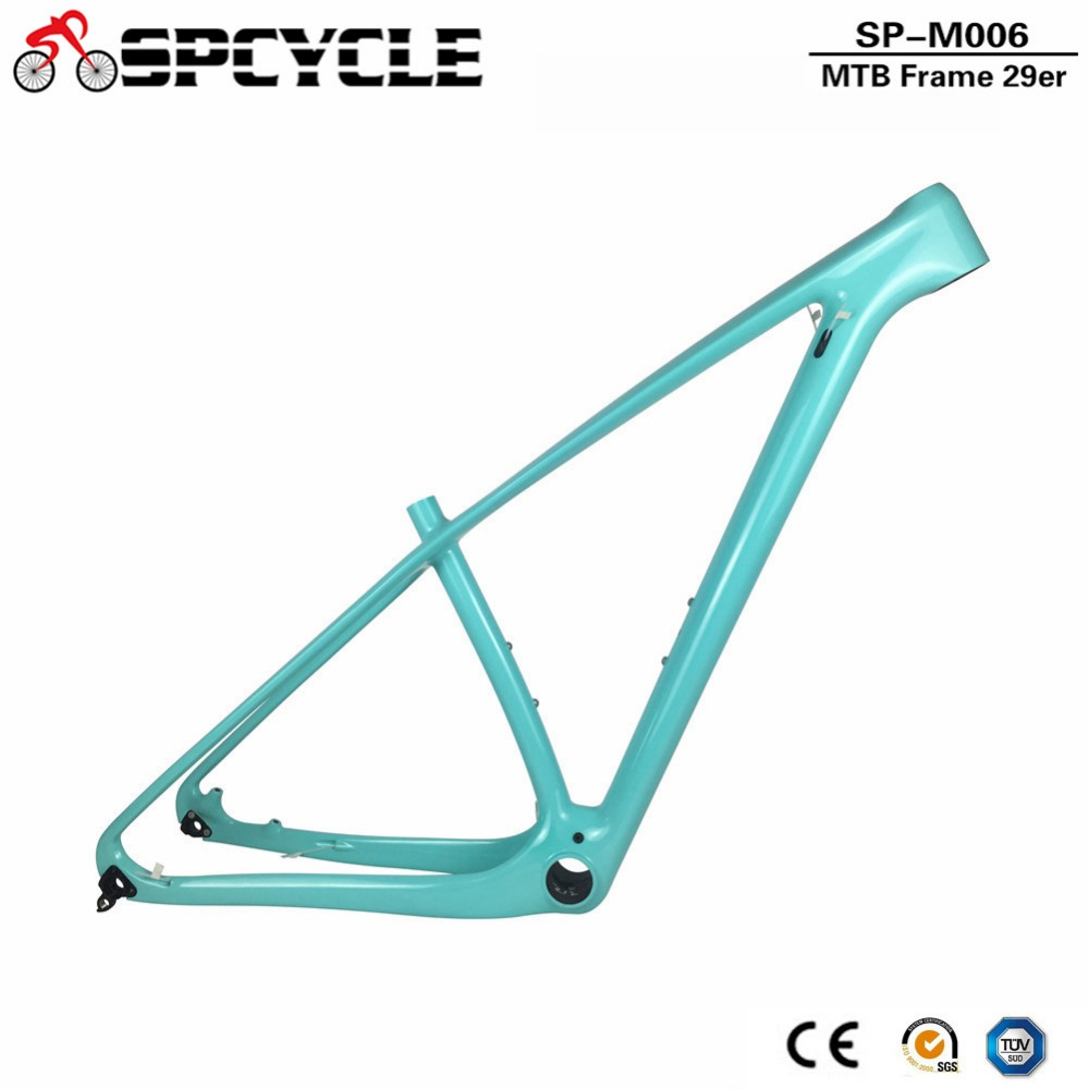 Spcycle T1000 Full Carbon MTB Frame 29er Carbon Mountain Bike Frame 142*12mm Thru Axle Carbon MTB Bicycle Frames Custom Paint 2017 mtb bicycle 29er carbon frame chinese mtb carbon frame 29er 27 5er carbon mountain bike frame 650b disc carbon mtb frame 29