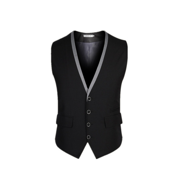 2016 Korea Style New Fashion Slim Fit Chaleco Hombre Sleeveless Waistcoat Suit Vest Mens Top Quality Clothing J339