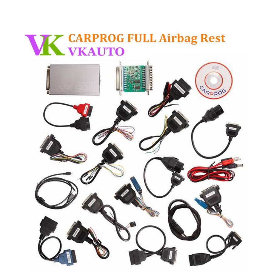 Carprog полный В10.93 с 21 адаптеры универсальный инструмент для автомобиля Радио приборной панели Иммобилайзер Подушка безопасности сброса Бесплатная доставка