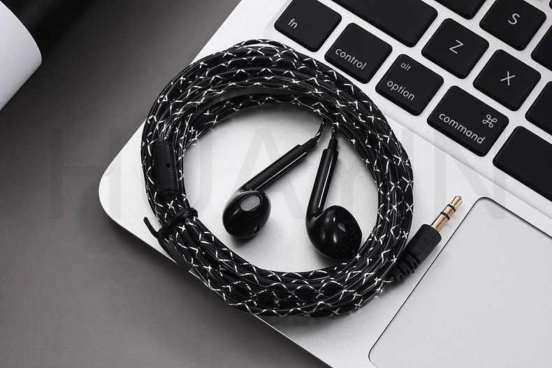 3 מטר קו wired שקע 3.5mm אוזניות מחשב אוזניות קריסטל קו אוזניות 5 דור אטמי אוזניים טלוויזיה אוזניות