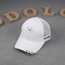 Personalidad Pins Street Dance auge béisbol y anillo de hierro malla gorras  GD estrella sombrero de béisbol hombres y mujeres hi. c720490c4a2