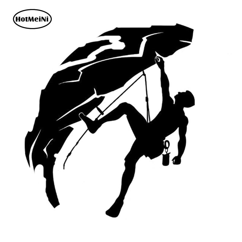HotMeiNi 12CM*14CM Fashion Rock Climbing Climber Vinyl Decal Car Sticker Black/Silver S9-0389