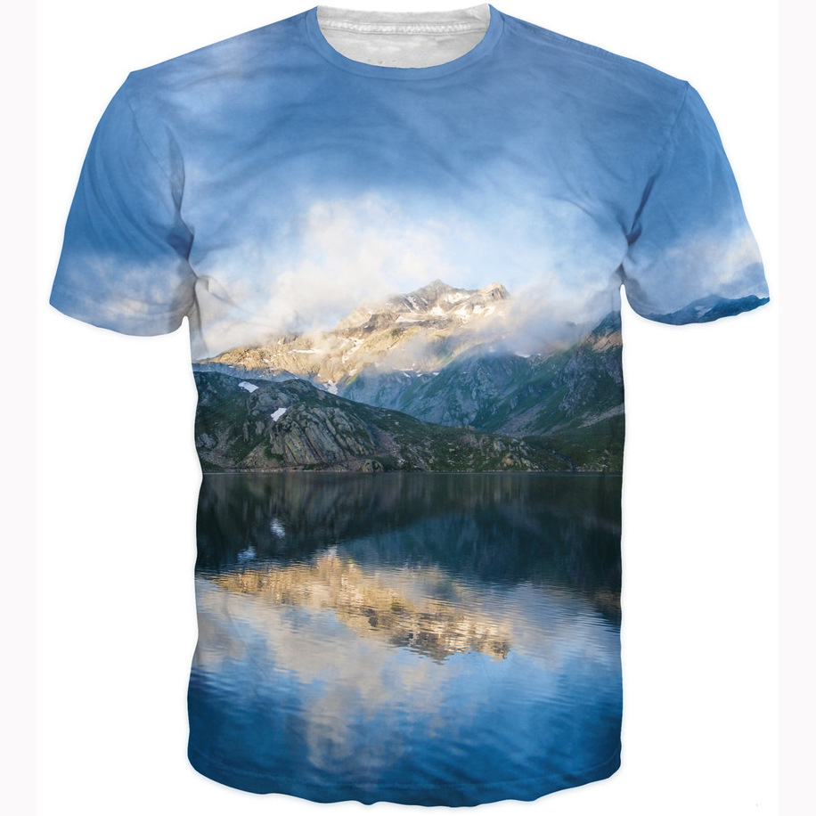 RageOn Hot Shots Epic Mountains Scenery T-Shirt Women/Men Summer Short Sleeve 3D T Shirt Crewneck Tees Harajuku Hip Hop Tops ...