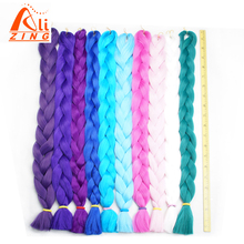цена на Alizing Synthetic Pure Color 165g 41 Inch Folded  Braiding Hair 1 Piece  kanekalon Braiding Hair Extension 20 Colors