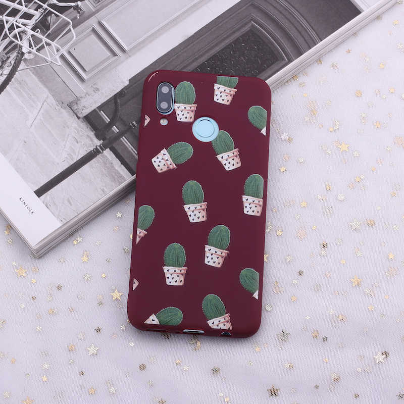 Для samsung S8 S9 S10 S10e Plus, Note 8, 9, 10, A7 A8 стильная футболка с изображением персонажей видеоигр кактуса растений арт силиконовый чехол для телефона чехол Чехол для мобильного телефона