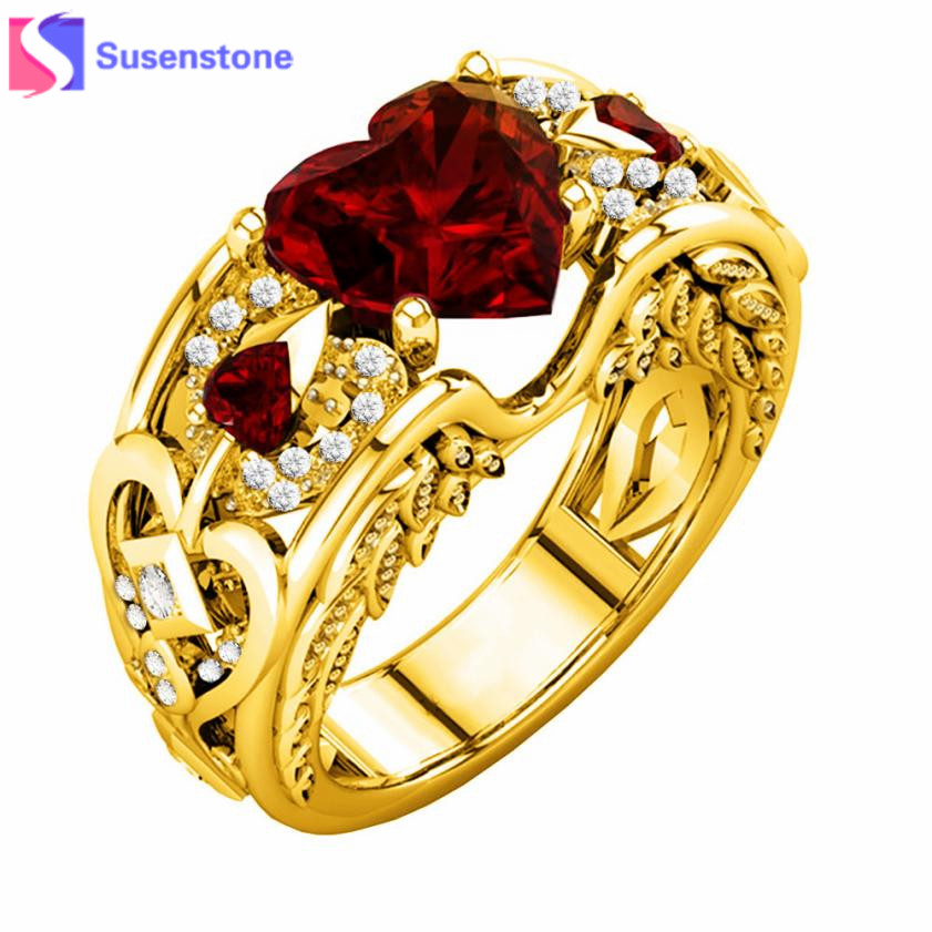 Aliexpress.com : Buy SUSENSTONE Heart Shaped Red High