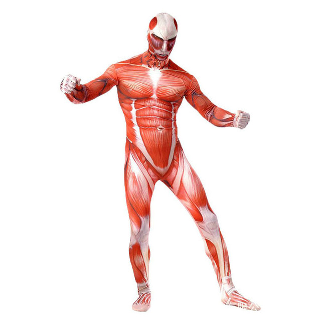 Attack On Titan Cosplay Costumes Spandex Lycra Second Skin Tight