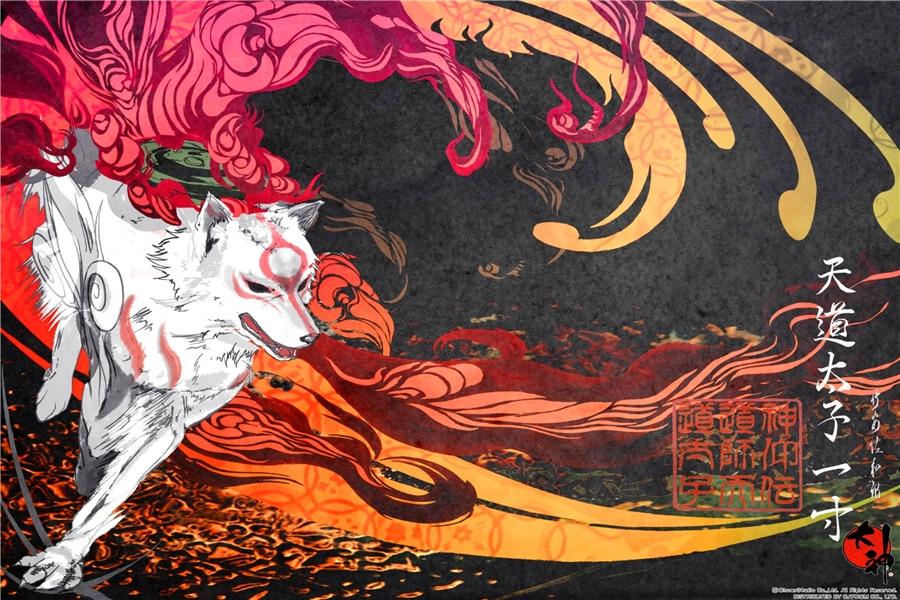 Custom Canvas Painting Okami Poster Okami Anime Wallpaper