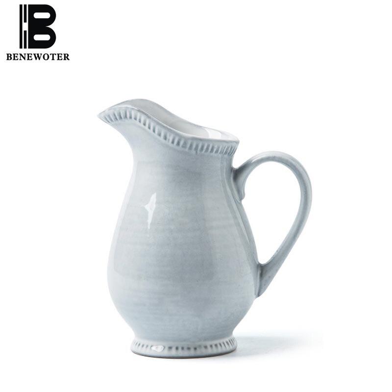 Creative Pull Flower Coffee Pot Home Ceramic Milk Jugs Fruit Juice Pot Coffee Pitcher Barista Craft Frothing Cup Coffeeware Tool serveware