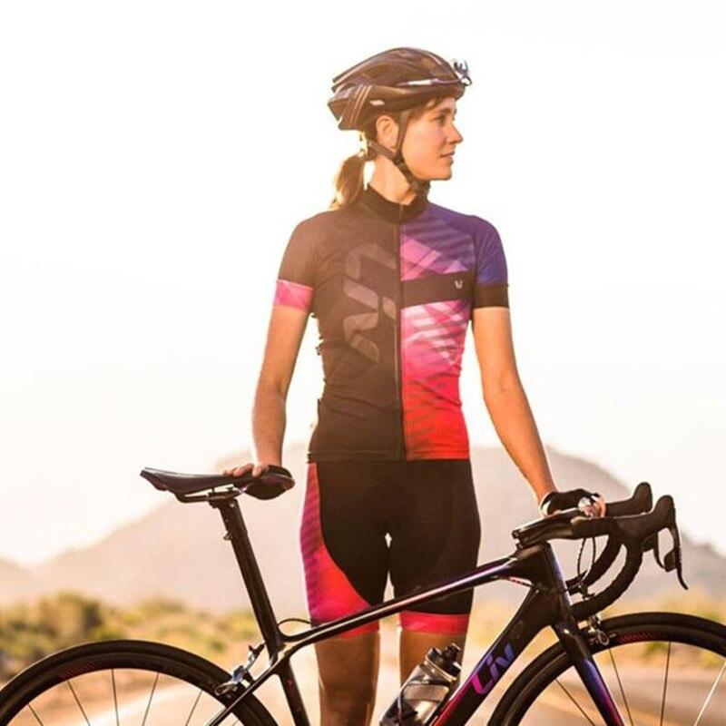 2018 cycling liv team women Jersey 19D gel pad bibs shorts set bike shirts Maillots Bike