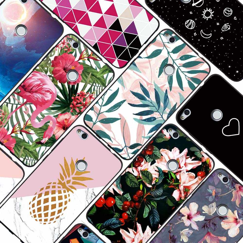 For Huawei Y5 Y6 Y9 2018 Y5 Y6 Prime 2018 Y3 2017 Y5 Lite 2017 Enjoy 7 8 Plus 7S 6S Luxury Flamingo Pineapple Leaves Case Cover