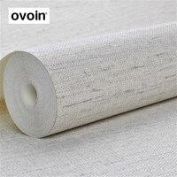 פו דפוס פשתן גליל טפט ויניל חדר שינה מודרני מוצק רגיל הלבן עם מרקם ארוג קיר נייר
