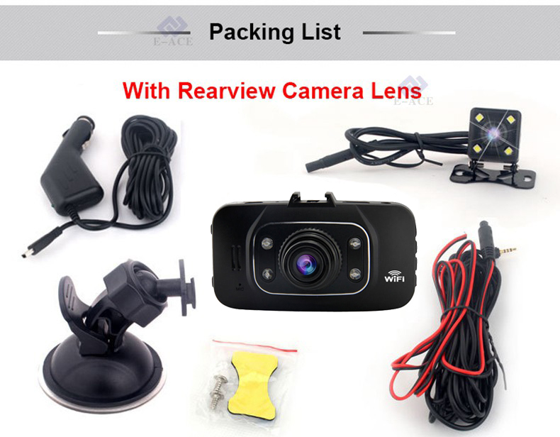 E-ACE Hidden Wifi Mini Car Dvr Full HD 1080P Video Recorder Night Vision Dvrs Auto Dash Cam Dual Camera Lens Automotive Car Cams 33