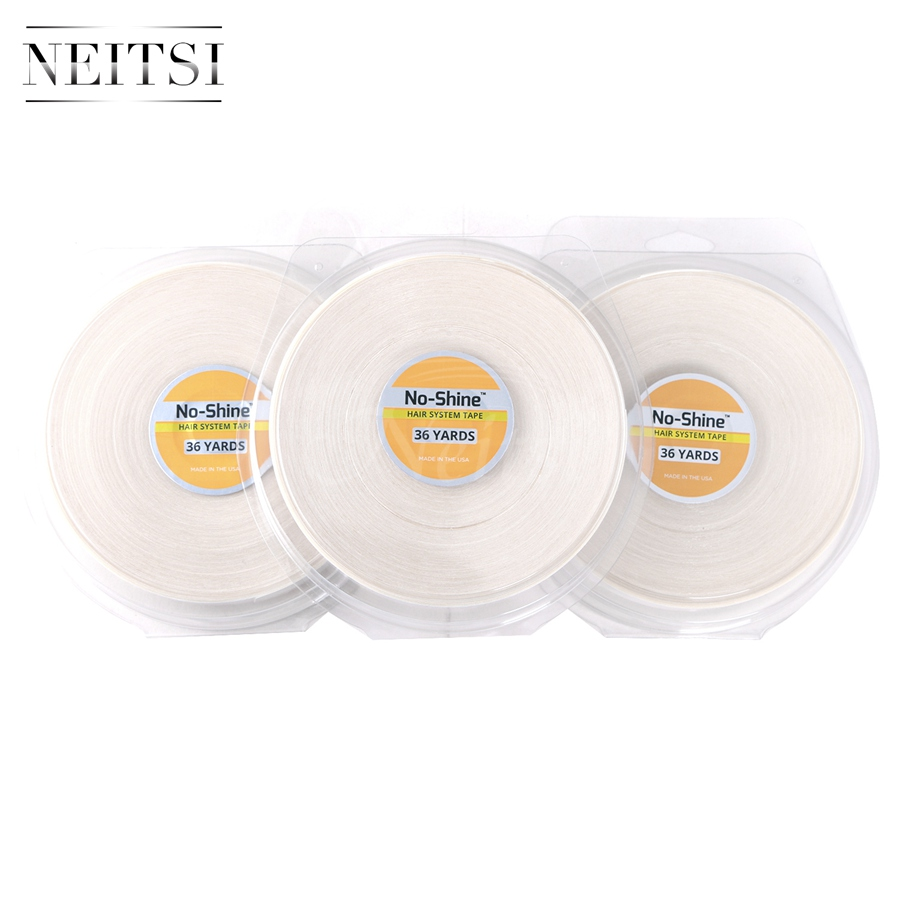 Neitsi 3PCS 0 75inch 36YDS NO SHINE BONDING Hair System US Walker Tape Roll Double Sided