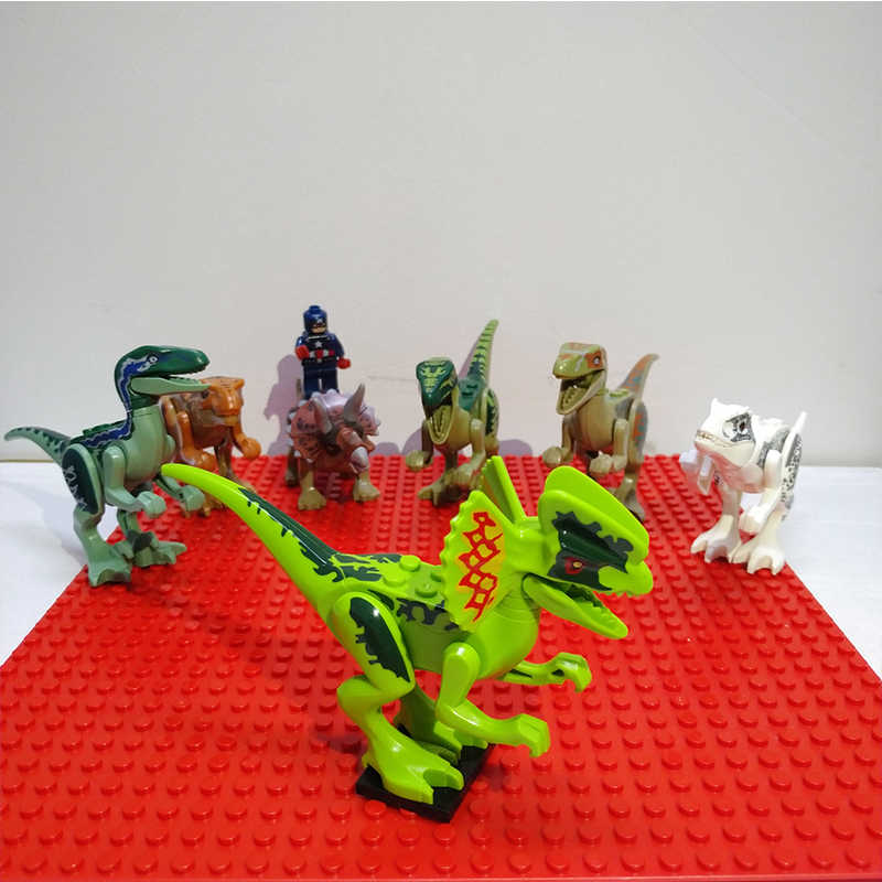 אבני בניין ילדים להרכיב צעצוע לבני היורה העולם Pterosaurs טריצרטופס דמויות מודלים צעצועים לילדים מתנה