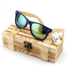 Для мужчин бамбуковое дерево Солнцезащитные очки для женщин в Винтаж Стиль с Пластик Рамка и поляризованные УФ-защита Красочные объектива в подарочной коробке