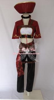 2016 LOL Katarina Cosplay Costume Halloween Pirate Version The phantom of the pirates Cosplay Costume