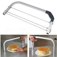 Paslanmaz Çelik Ayarlanabilir Büyük Ara Katman Kek Kesici Leveler 3 Bıçakları Gördüm Dilimleme Ev Ekmek Pişirme Araçları Bakeware