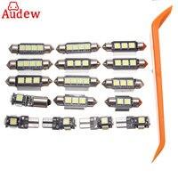 18pcs Car Interior LED Light Kit White Lamp DC 12V Reading Light For 2003 2011 Volvo