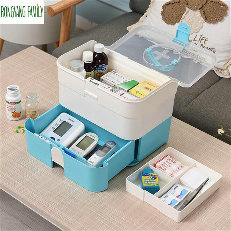 Family First Aid Kit Household Medical Storage Box Drawer Drug Gathering Organizer Case Home Healthcare Container Medicine BoxFamily First Aid Kit Household Medical Storage Box Drawer Drug Gathering Organizer Case Home Healthcare Container Medicine Box