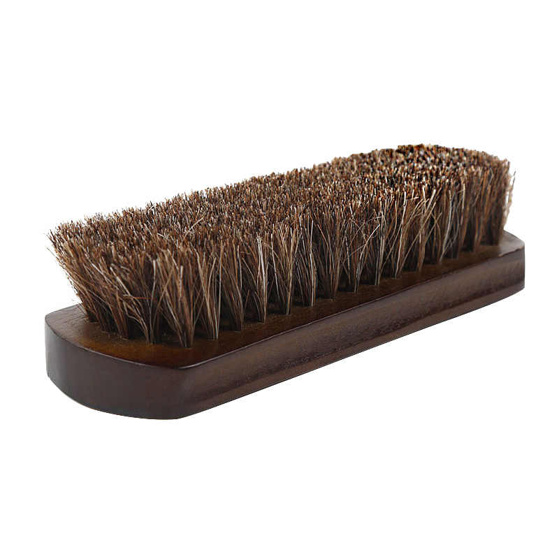 'The Best' Wood Handle Horse Hair Mustache Beard Brush Shoes Clothes Cleaning Brush Cleaner Tools 889