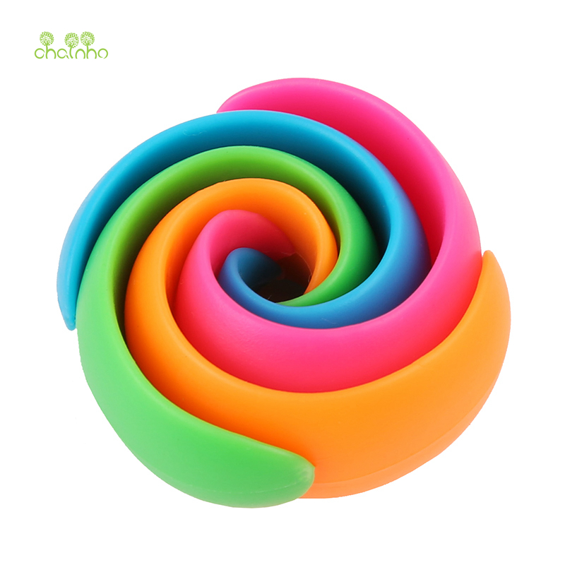 Chainho,12pcs/bag,Mix Color,Small Silicone Rubber Bobbin Clip,Use For Anti wire Head Fall off,Spool Fixing Clip,DIY Sewing Tools-in Sewing Tools & Accessory from Home & Garden