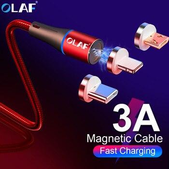 1M câble de chargement USB magnétique pour iPhone X Xs Max 8 7 6plus câble USB de Type C câble Micro USB pour Samsung Xiaomi Huawei USB C