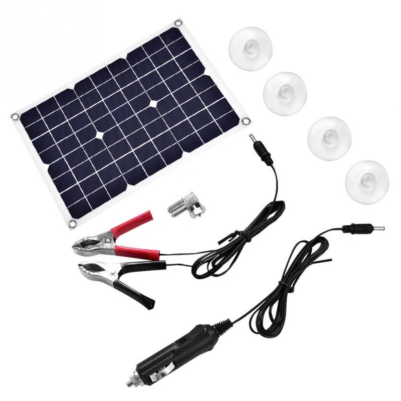 New 18V 20W Solar Panel Charger Flexible Backup Mobile Battery Charger for Car Boat Automobile