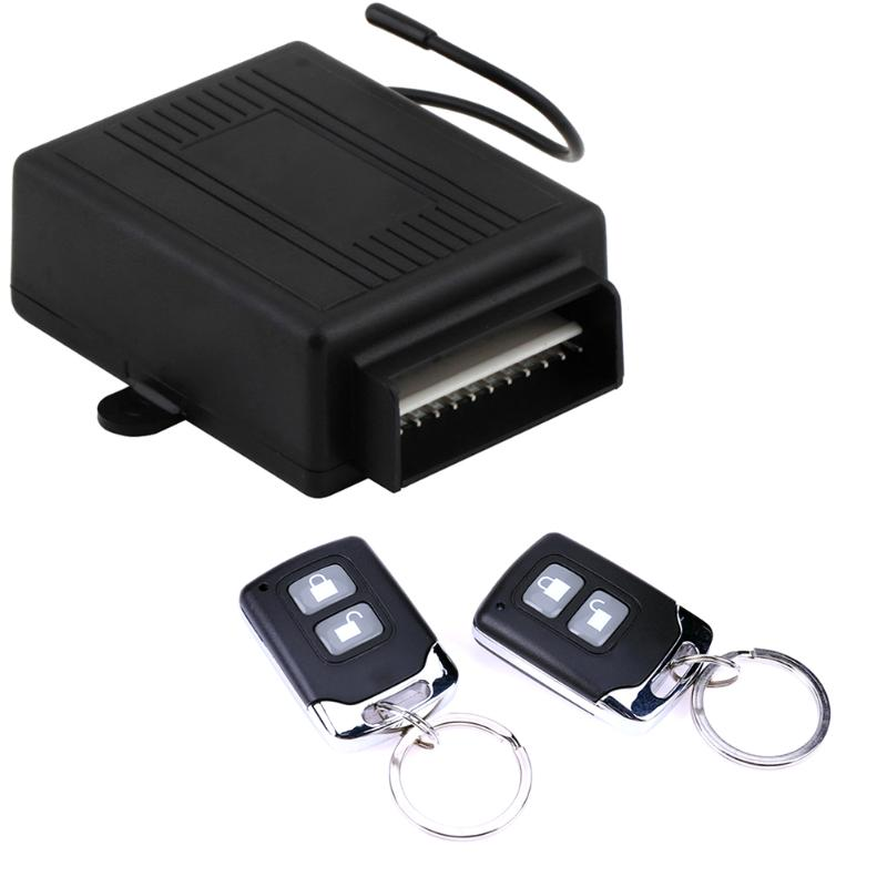 Universal 12V Car Alarm Systems Auto Remote Central Kit Door Lock Locking Vehicle Keyless Entry System with 2 Remote Control