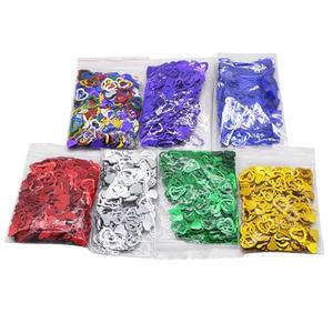 Image 4 - 600 개/몫 여러 가지 빛깔의 스파클링 러브 하트 웨딩 파티 축제 색종이 테이블 장식 장식 용품 발렌타인 데이