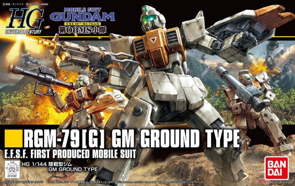 1PCS Bandai HGUC 202 1/144 GM RGM-79[G] Gundam Mobile Suit Assembly Model Kits lbx toys education toys gm pb026 g