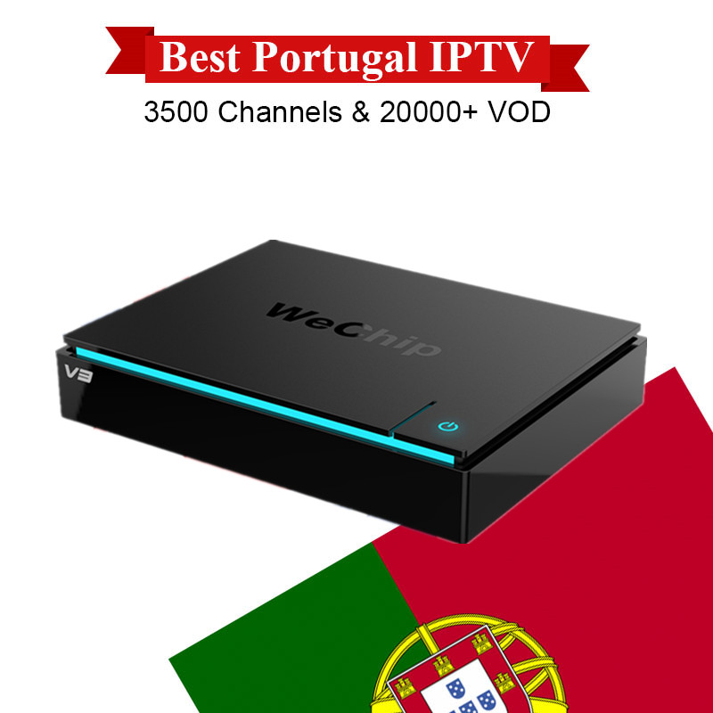 Wechip V3 Set Top Box with 1 Year Portugal Canada European IPTV Pay TV Android 5.1 RK3229 1G/8G XBMC Keyboard Smart TV Box eachlink ix88 android 5 1 1 rk3229 tv box