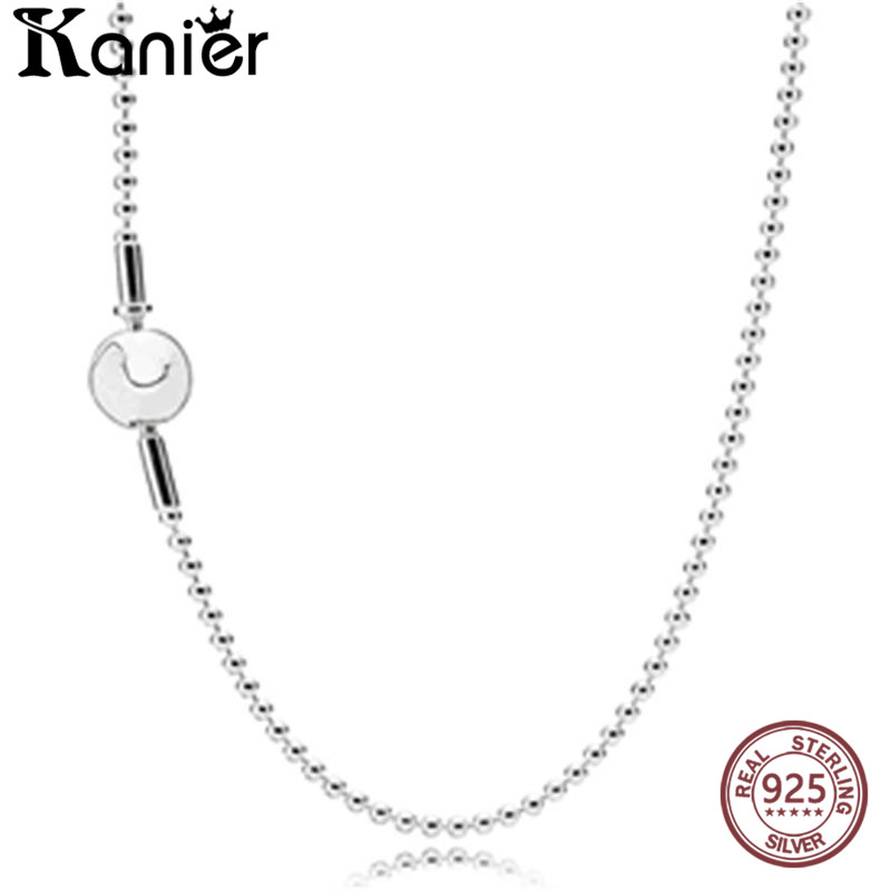 KANIER Fashion ESSENCE Collection Beaded Silver Necklace Has Logo 100% Pure Silver for Pandor Chain Factory Wholesale Free Mail