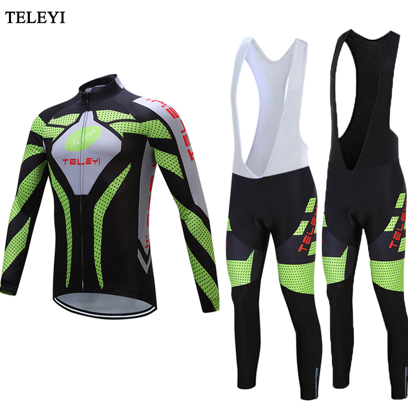 f424a2081 TELEYI Ropa Ciclismo Bike Bicycle Jersey (bib) pants Suit Women Men Cycling  jersey Long Sleeve Clothing Cycling Sets